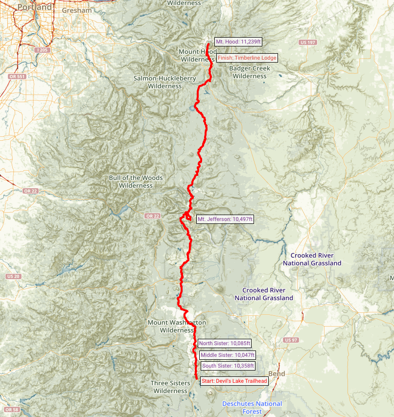 News Climbing Oregon S 5 Highest Peaks Over 10 000ft In One Push