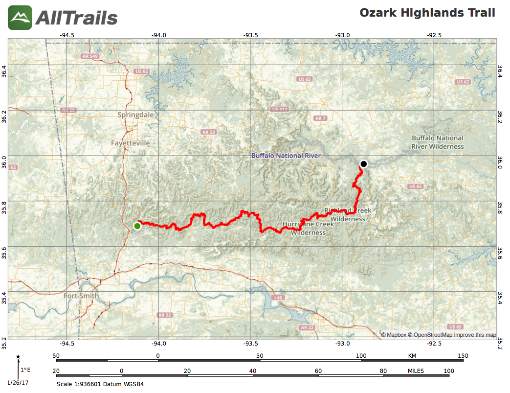 News: 165-mi Ozark Highlands Trail Unsupported FKT Attempt